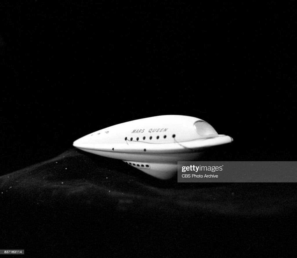 'Rod Brown of the Rocket Rangers' the CBS television science fiction series, broadcast live. Pictured a model spacecraft, the 'Mars Queen.' Premiere episode titled: Operation Decoy. New York, NY.
