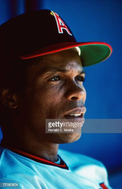 Rod Carew of the Anaheim Angeles during a game in 1980 in Anaheim California