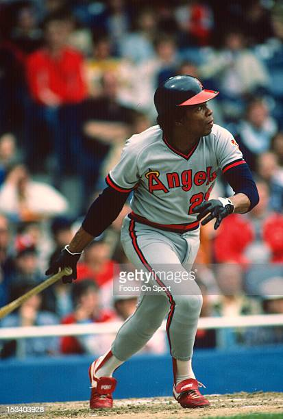 Rod Carew of the California Angels bats during an Major League Baseball game circa 1982 Carew played for the Angels from 197985