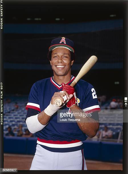 Rod Carew of the California Angels poses for a portrait circa 1982