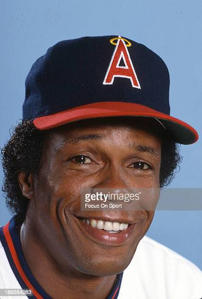 Rod Carew of the California Angels smiles in this portrait during during Major League Baseball spring training circa 1985 Carew played for the Angels...