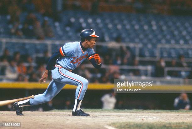 Rod Carew of the Minnesota Twins bats against the Milwaukee Brewers during an Major League Baseball game circa 1975 at Milwaukee County Stadium in...