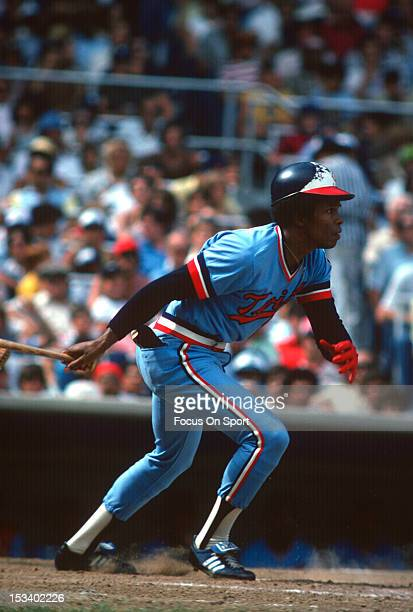Rod Carew of the Minnesota Twins bats against the New York Yankees during an Major League Baseball game circa 1978 at Yankee Stadium in the Bronx...