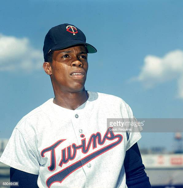 Rod Carew of the Minnesota Twins poses before a game at Yankee Stadium in the Bronx New York Rod Carew played for the Minnesota Twins from 196778