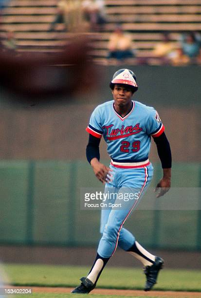 Rod Carew of the Minnesota Twins runs the bases against the Baltimore Orioles during an Major League Baseball game circa 1974 at Memorial Stadium in...