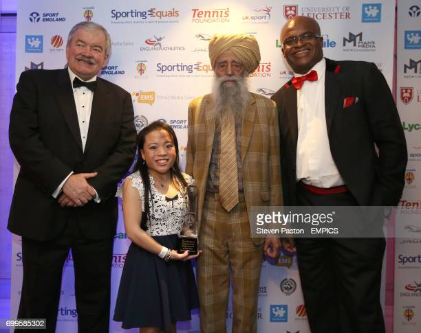 Rod Carr CBE UK Sport Inspirational Performance of the Year Rachel Choong Fauja Singh BEM and Kriss Akabusi MBE