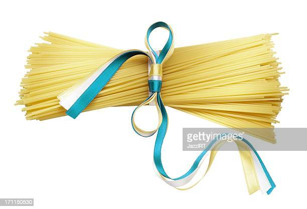 Rod connected with ribbon pasta