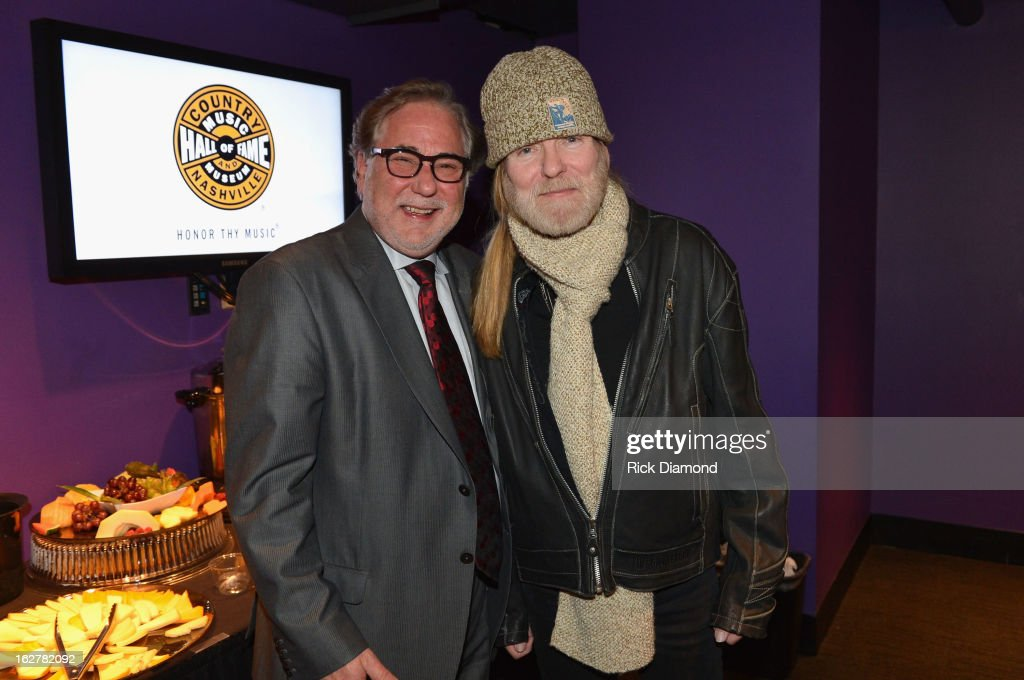 Rod Essig, VP of CAA Nashville and musician Gregg Allman attend the All For the Hall New York concert benefiting the Country Music Hall of Fame at Best Buy Theater on February 26, 2013 in New York City.
