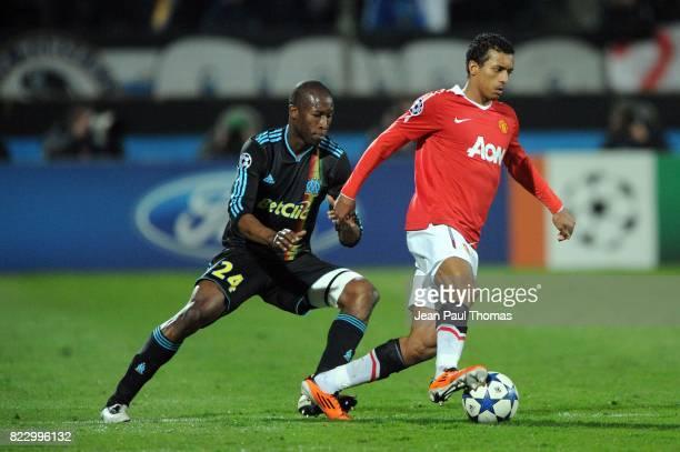 NANI / Rod FANNI Marseille / Manchester United 1/8 finale Champions League 2010/2011 Marseille