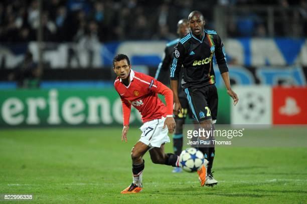 NANI Rod FANNI Marseille / Manchester United 1/8 finale Champions League 2010/2011 Marseille