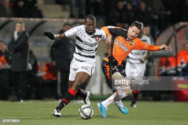 Rod Fanni / Kevin Gameiro Lorient / Rennes 15eme journee de Ligue 1