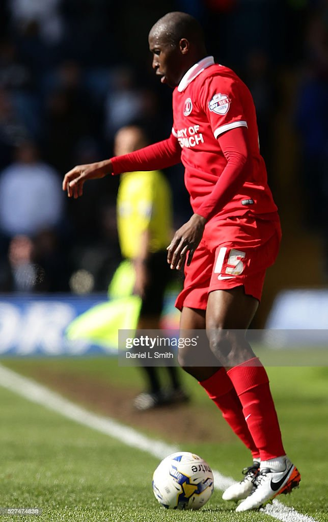 Rod Fanni of Charlton Athletic FC during the Sky Bet Championship match between Leeds United and Charlton Athletic at Elland Road on April 30 2016 in...