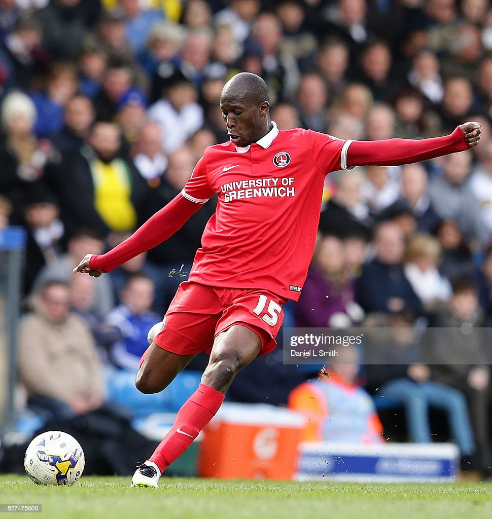 <a gi-track='captionPersonalityLinkClicked' href=/galleries/search?phrase=Rod+Fanni&family=editorial&specificpeople=684945 ng-click='$event.stopPropagation()'>Rod Fanni</a> of Charlton Athletic FC during the Sky Bet Championship match between Leeds United and Charlton Athletic at Elland Road on April 30, 2016 in Leeds, United Kingdom.