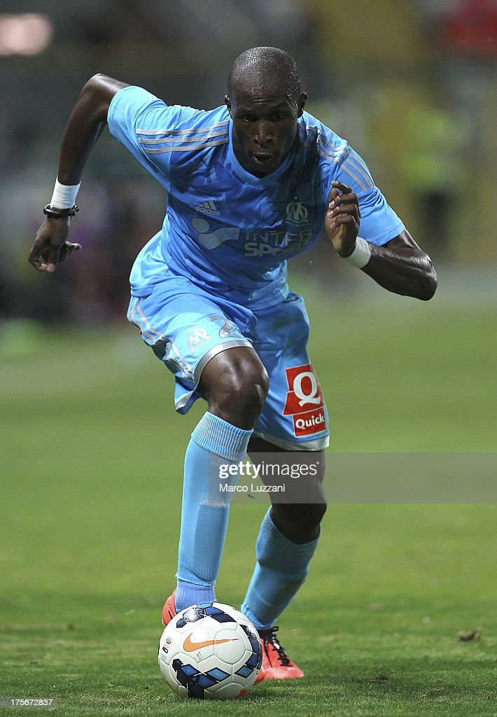 Rod Fanni of Olympique de Marseille in action during the preseason friendly match between Parma FC and Olympique de Marseille at Stadio Ennio Tardini...