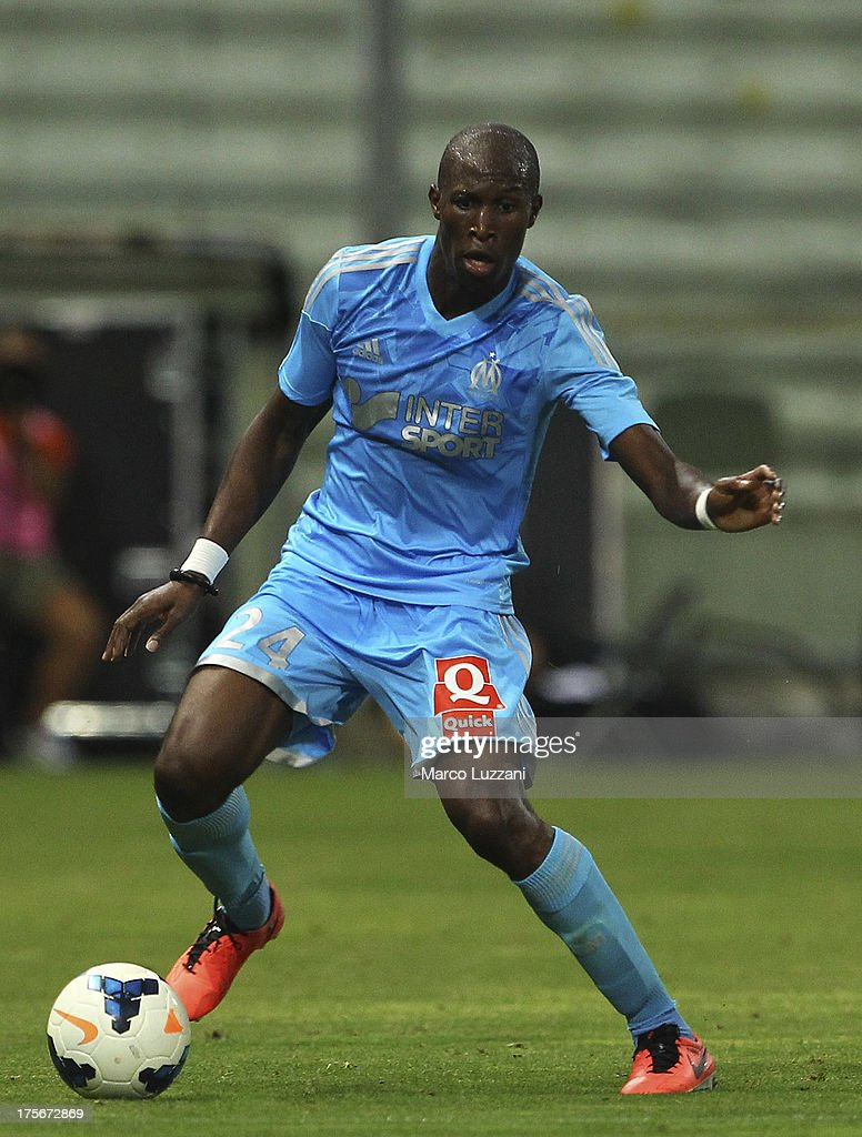 <a gi-track='captionPersonalityLinkClicked' href=/galleries/search?phrase=Rod+Fanni&family=editorial&specificpeople=684945 ng-click='$event.stopPropagation()'>Rod Fanni</a> of Olympique de Marseille in action during the pre-season friendly match between Parma FC and Olympique de Marseille at Stadio Ennio Tardini on July 31, 2013 in Parma, Italy.