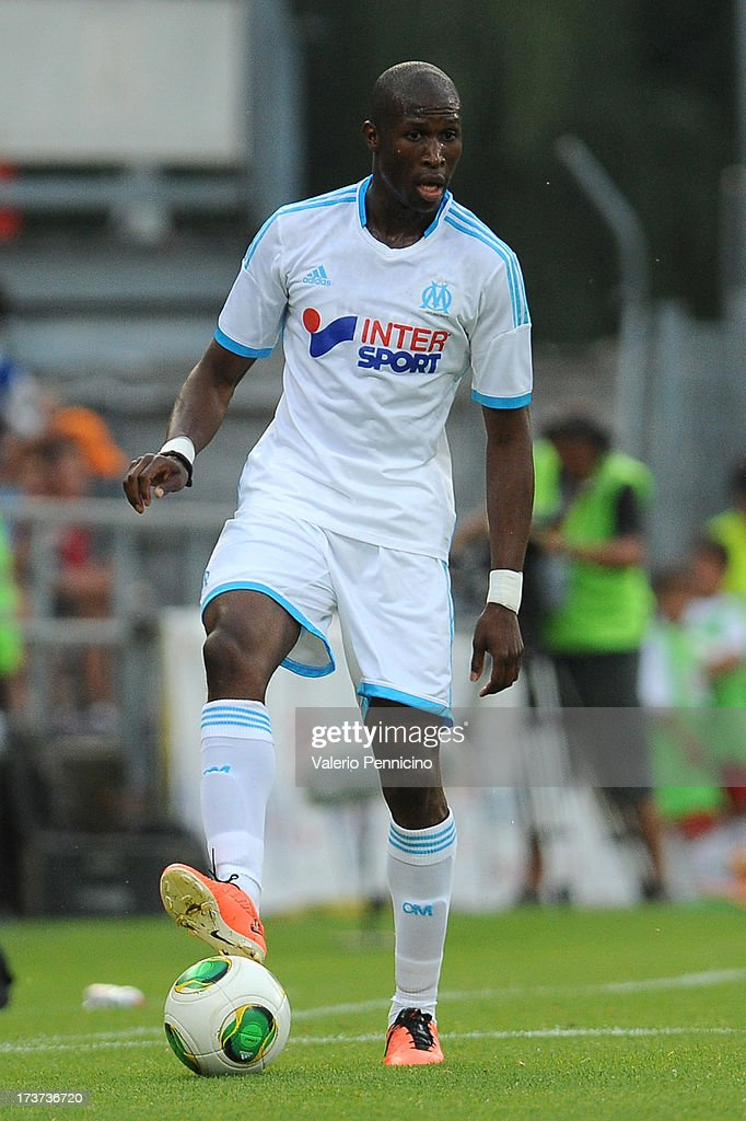<a gi-track='captionPersonalityLinkClicked' href=/galleries/search?phrase=Rod+Fanni&family=editorial&specificpeople=684945 ng-click='$event.stopPropagation()'>Rod Fanni</a> of Olympique Marseille in action during the pre-season friendly match between FC Porto and Olympique Marseille at Estadio Tourbillon on July 13, 2013 in Sion, Switzerland.