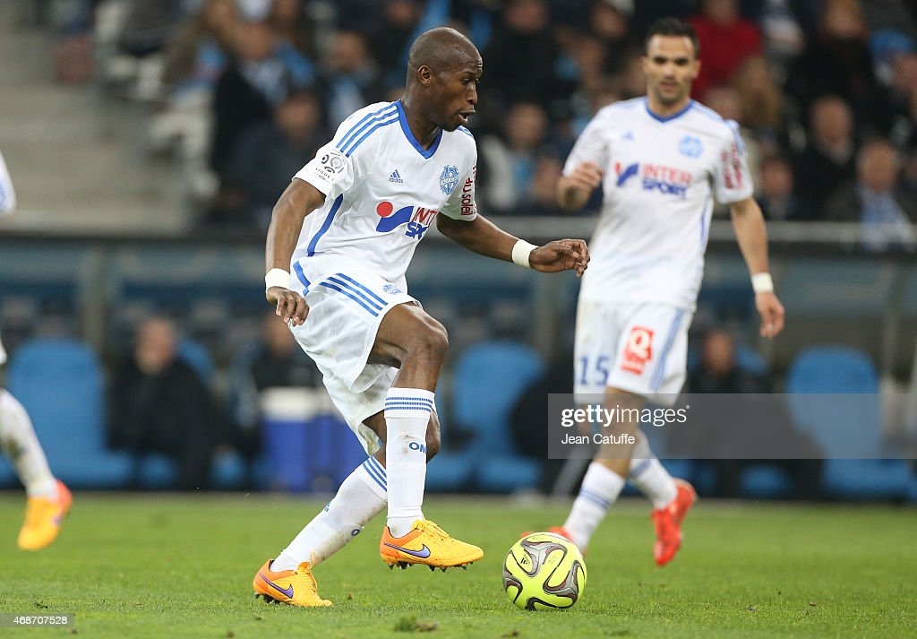 Rod Fanni of OM in action during the French Ligue 1 match between Olympique de Marseille and Paris SaintGermain at New Stade Velodrome on April 5...