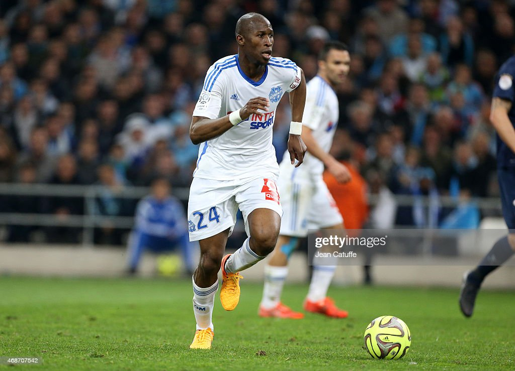 <a gi-track='captionPersonalityLinkClicked' href=/galleries/search?phrase=Rod+Fanni&family=editorial&specificpeople=684945 ng-click='$event.stopPropagation()'>Rod Fanni</a> of OM in action during the French Ligue 1 match between Olympique de Marseille (OM) and Paris Saint-Germain (PSG) at New Stade Velodrome on April 5, 2015 in Marseille, France.