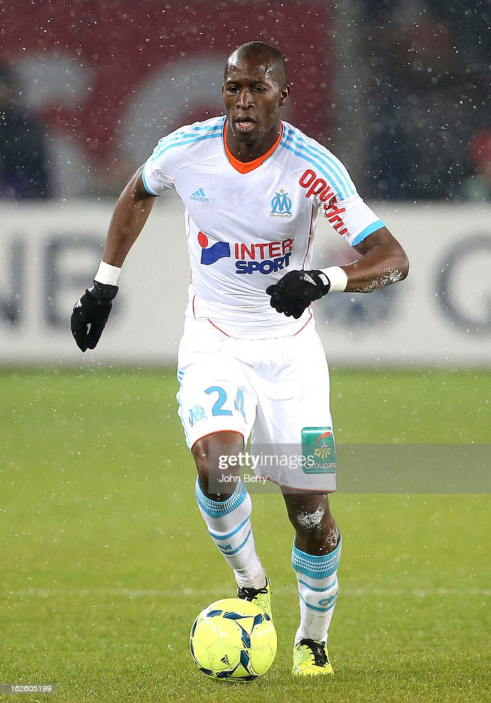Rod Fanni of OM in action during the French Ligue 1 match between Paris Saint Germain FC and Olympique de Marseille at the Parc des Princes stadium...