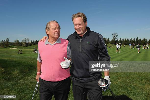 Rod Gilbert and Jeremy Roenick attend Birdies For Breast Cancer Presents 2012 Celebrity Golf Classic hosted by Christie Kerr at Liberty National Golf...