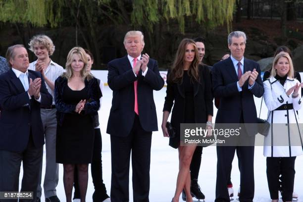 Rod Gilbert Judy Gilbert Donald Trump Melania Trump Terry Lundgren and Tina Lundgren attend The 2010 SKATING WITH THE STARS A Benefit Gala for FIGURE...