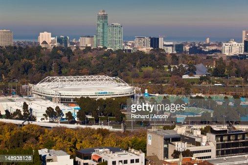 Rod Laver Arena at Melbourne Park tennis centre. : Stock Photo