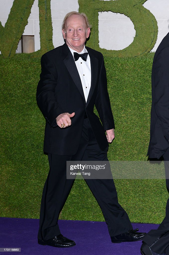 Rod Laver arrives for the Wimbledon Champions Dinner held at the InterContinental Park Lane Hotel on July 7, 2013 in London, England.