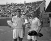 Rod laver the newest triple crown winner in tennis poses with roy picture id97351671?s=170x170