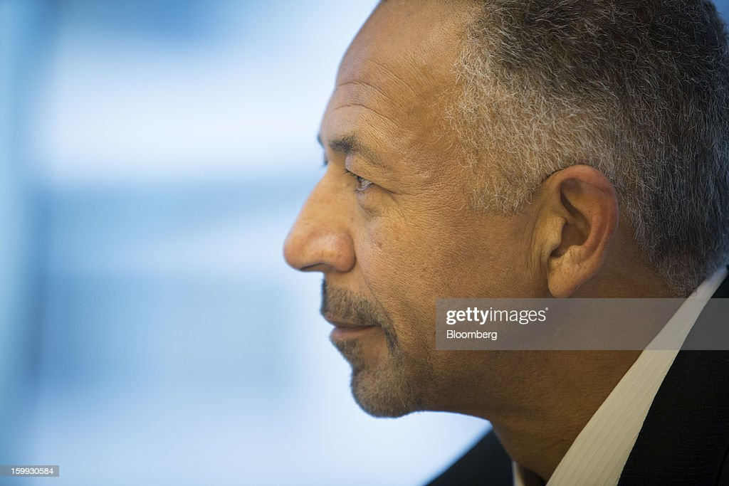 Rod O'Neal, chief executive officer of Delphi Automotive Plc, listens during an interview in New York, U.S., on Wednesday, Jan. 23, 2013. Delphi, based in Troy, Michigan, is a former parts unit of General Motors Co. Photographer: Scott Eells/Bloomberg via Getty Images