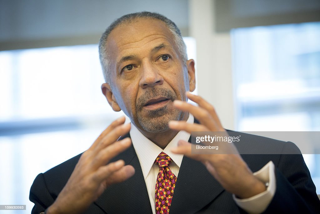 Rod O'Neal, chief executive officer of Delphi Automotive Plc, speaks during an interview in New York, U.S., on Wednesday, Jan. 23, 2013. Delphi, based in Troy, Michigan, is a former parts unit of General Motors Co. Photographer: Scott Eells/Bloomberg via Getty Images