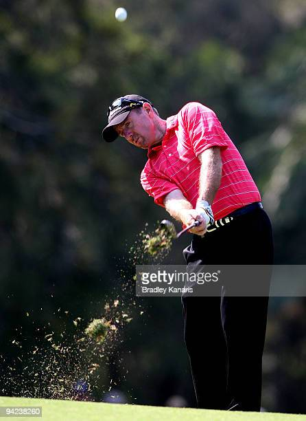 Rod Pampling of Australia plays a shot on the twelfth fairway during day one of the 2009 Australian PGA Championship at Hyatt Regency Resort Coolum...