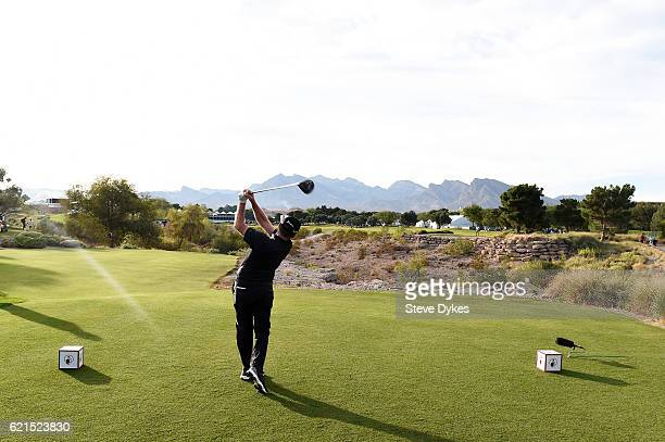 Rod Pampling of Australia plays his shot from the 18th tee during the final round of the Shriners Hospitals For Children Open on November 6 2016 in...