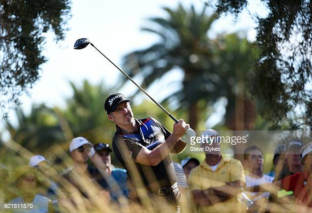 Rod Pampling of Australia plays his shot from the ninth tee during the final round of the Shriners Hospitals For Children Open on November 6 2016 in...