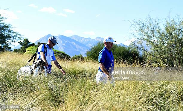 Rod Pampling of Australia walks from the second tee during the second round of the Shriners Hospitals For Children Open on November 4 2016 in Las...