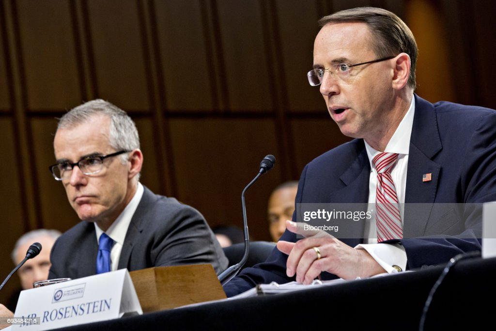 Image result for photos of andrew mccabe Rod rosenstein