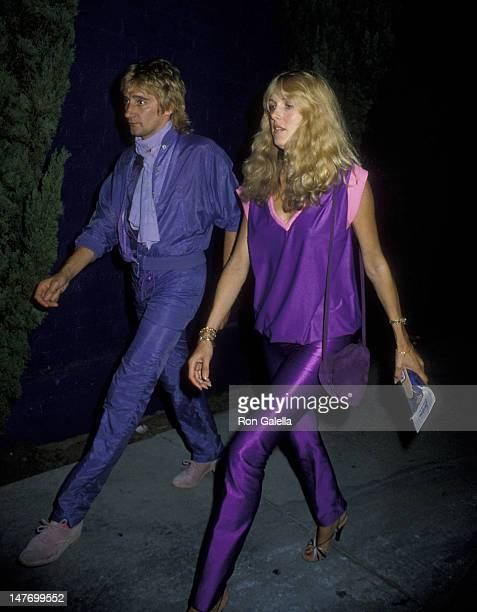Rod Stewart and Alana Hamilton attend the birthday party for Jacqueline Bissett on September 13 1979 at Flipper's Roller Disco in West Hollywood...