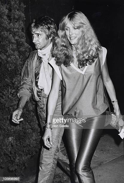 Rod Stewart and Alana Hamilton during Jacqueline Bissett's Birthday Party September 13 1979 at Flippers Roller Disco in Sherman Oaks California...