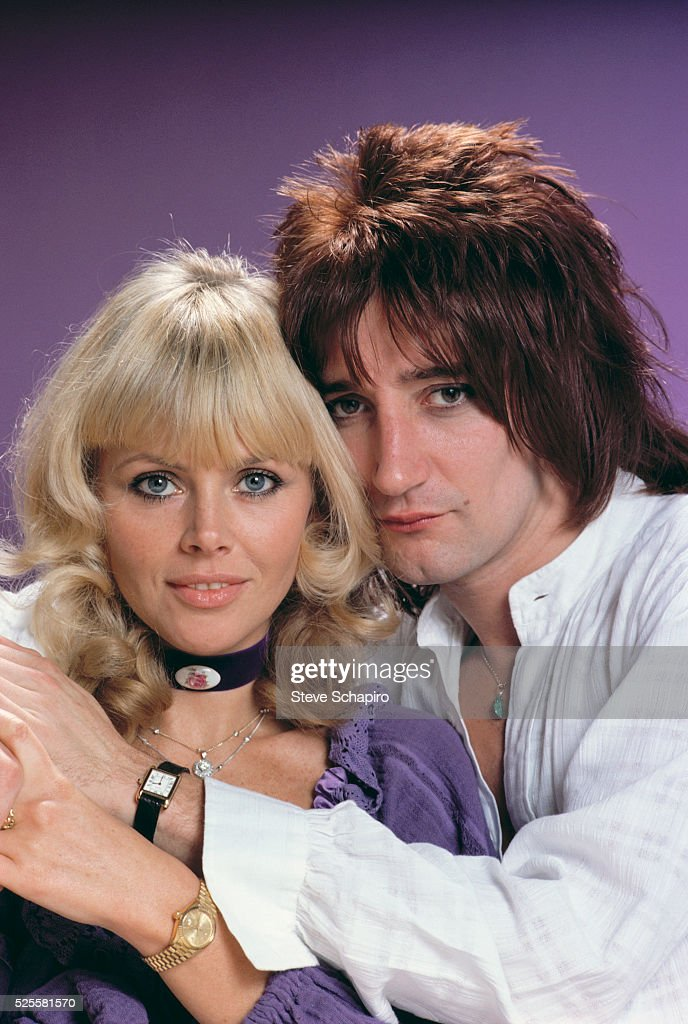 Rod Stewart and Britt Ekland