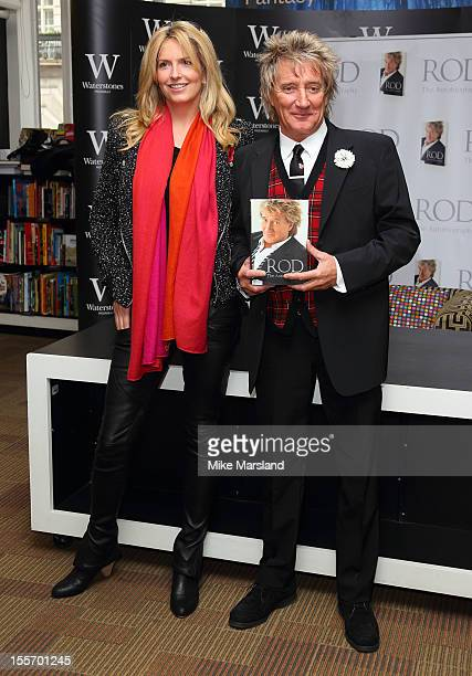 Rod Stewart and his wife Penny LancasterStewart meet fans and signs copies of his book 'Rod The Autiobiography' at Waterstone's Piccadilly on...