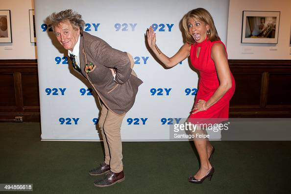 Rod Stewart and Hoda Kotb attend 92nd Street Y Presents Rod Stewart In Conversation with Hoda Kotb at 92nd Street Y on October 29 2015 in New York...
