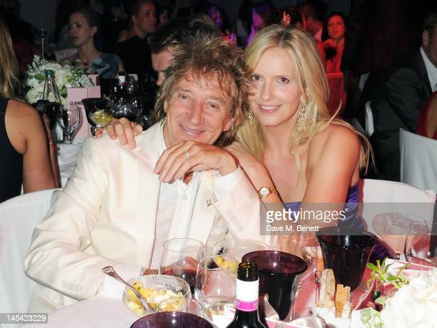 Rod Stewart and Penny Lancaster arrive at the Glamour Women of the Year Awards in association with Pandora at Berkeley Square Gardens on May 29 2012...