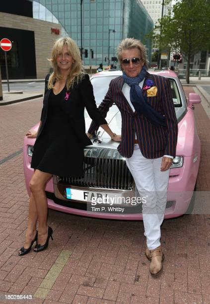 Rod Stewart and Penny Lancaster arrive for the BGC Charity Day 2013 at BGC Partners on September 11 2013 in London England