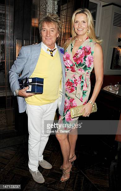 Rod Stewart and Penny Lancaster attend as Richard Caring and Sir Philip Green host Johnny Gold's 80th Birthday at 34 Grosvenor Square on June 25 2012...