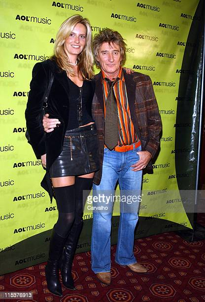 Rod Stewart and Penny Lancaster during AOL Music Live Concert with Rod Stewart on the Eve of the Release of StardustThe Great American Songbook Vol...