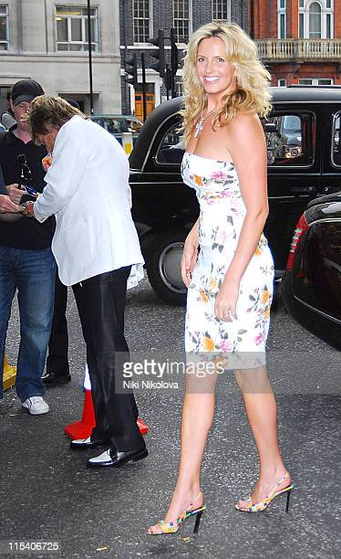 Rod Stewart and Penny Lancaster during Prince's Trust Summer Ball Outside Arrivals July 6 2006 at Berkeley Square in London Great Britain