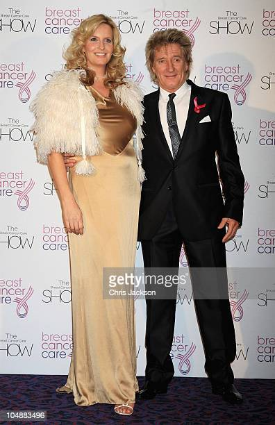 Rod Stewart and Penny LancasterStewart arrives at the Breast Cancer Care Fashion Show at the Dorchester on October 6 2010 in London England All 24...