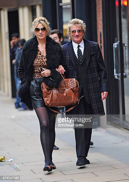 Rod Stewart and wife Penny Lancaster are seen on November 09 2012 in London United Kingdom