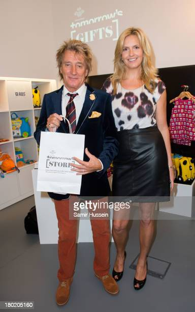 Rod Stewart and wife Penny Lancaster attend the opening of The Prince's trust 'Tomorrow's Shop' on September 10 2013 in London England