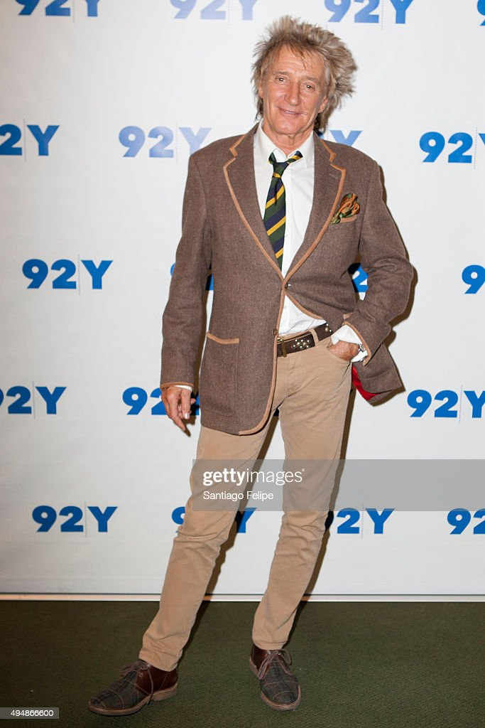 Rod Stewart attends 92nd Street Y Presents: Rod Stewart In Conversation with Hoda Kotb at 92nd Street Y on October 29, 2015 in New York City.