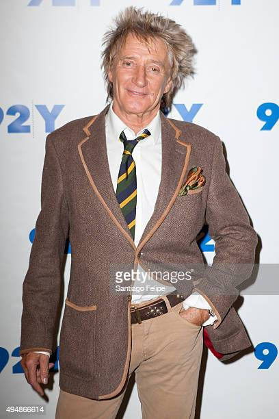 Rod Stewart attends 92nd Street Y Presents Rod Stewart In Conversation with Hoda Kotb at 92nd Street Y on October 29 2015 in New York City